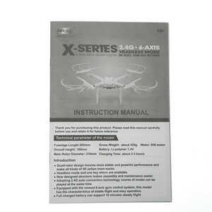 MJX X-series X101 quadcopter spare parts english manual instruction book