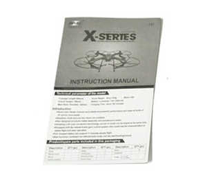 MJX X102H RC quadcopter spare parts English manual book