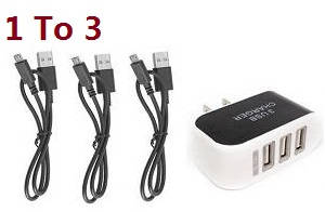 MJX X103W RC Quadcopter spare parts 1 to 3 USB charger wire set