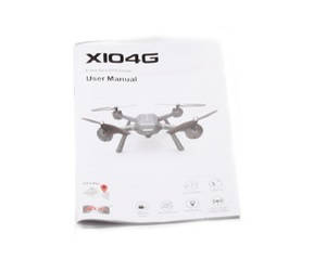 MJX X104G RC Quadcopter spare parts English manual book