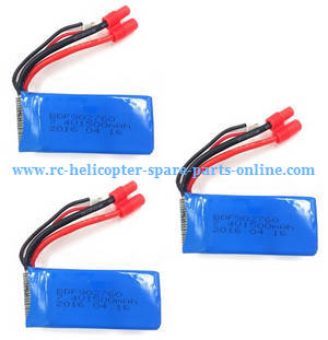 Xinlin X181 RC Quadcopter spare parts battery 7.4V 1500mAh 3pcs