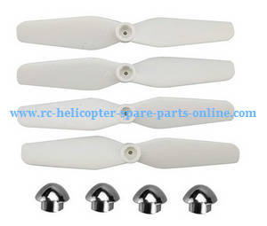 Syma X23W X23 RC quadcopter spare parts main blades (White) + Silver caps of blades