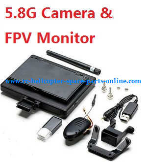 XK X250 quadcopter spare parts 5.8G camera + FPV monitor set