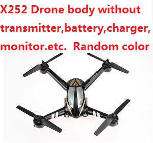 XK X252 quadcopter body without battery,charger,monitor,transmitter,etc. Random color