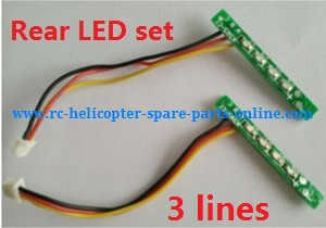 XK X252 quadcopter spare parts rear LED bar set Red and Green light
