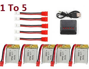 Syma X26 RC quadcopter spare parts 1 to 5 charger set + 5*battery 3.7V 380mAh set