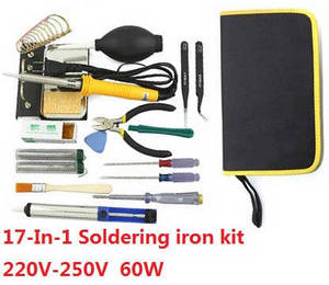 XK X300-G RC quadcopter spare parts 17-In-1 Voltage 220-250V 60W soldering iron set