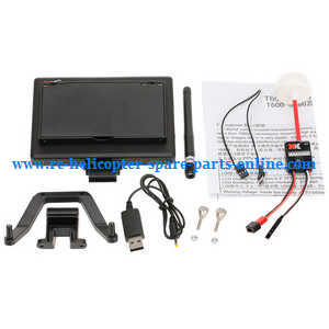 XK X380 X380-A X380-B X380-C quadcopter spare parts 5.8G 8CH FPV monitor and signal launcher Set
