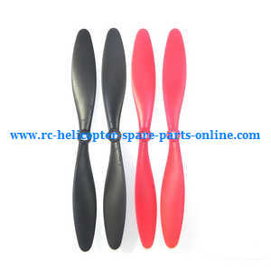 XK X380 X380-A X380-B X380-C quadcopter spare parts main blades propellers (Red-Black)