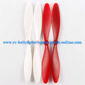 XK X380 X380-A X380-B X380-C quadcopter spare parts main blades propellers (Red-White)
