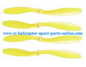 XK X380 X380-A X380-B X380-C quadcopter spare parts main blades propellers (Yellow)