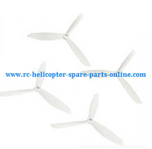 XK X380 X380-A X380-B X380-C quadcopter spare parts upgrade 3-leaf blades (White)