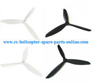 XK X380 X380-A X380-B X380-C quadcopter spare parts upgrade 3-leaf blades (White-Black)