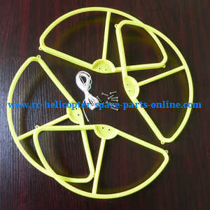 XK X380 X380-A X380-B X380-C quadcopter spare parts outer protection frame (Yellow)