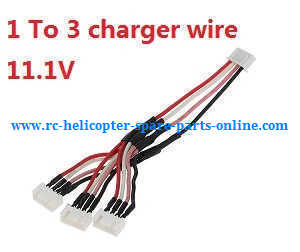 XK X380 X380-A X380-B X380-C quadcopter spare parts 1 to 3 charger wire 11.1V