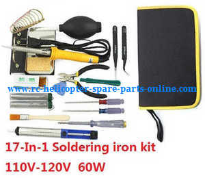 XK X380 X380-A X380-B X380-C quadcopter spare parts 17-In-1 Voltage 110-120V 60W soldering iron set