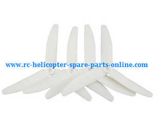 Syma X56pro X56W-P RC quadcopter spare parts upgrade 3-leaf main blades (White)