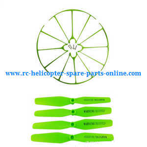 Syma X56pro X56W-P RC quadcopter spare parts protection frame set + main blades (Green)