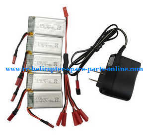 Syma X56pro X56W-P RC quadcopter spare parts 3.7V 850mAh battery 5pcs + 1 to 5 charger set