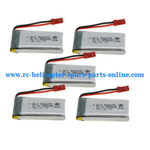 Syma X56pro X56W-P RC quadcopter spare parts 3.7V 850mAh battery 5pcs