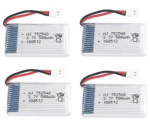 SYMA x5 x5a x5c x5c-1 RC Quadcopter spare parts 3.7V 500mAh battery 4pcs
