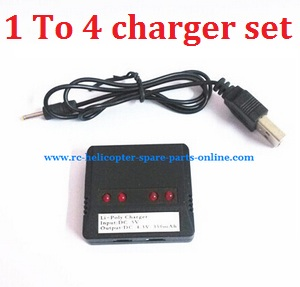 SYMA x5 x5a x5c x5c-1 RC Quadcopter spare parts 1 To 4 USB charger wire + balance charger box