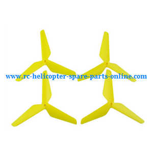 SYMA x5 x5a x5c x5c-1 RC Quadcopter spare parts upgrade Three leaf shape blades (Yellow)