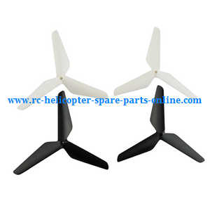 SYMA x5 x5a x5c x5c-1 RC Quadcopter spare parts upgrade Three leaf shape blades (White-Black)