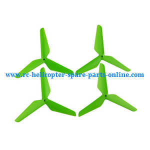 SYMA x5 x5a x5c x5c-1 RC Quadcopter spare parts upgrade Three leaf shape blades (Green)