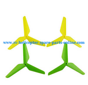 SYMA x5 x5a x5c x5c-1 RC Quadcopter spare parts upgrade Three leaf shape blades (Green-Yellow)