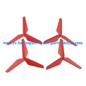 SYMA x5 x5a x5c x5c-1 RC Quadcopter spare parts upgrade Three leaf shape blades (Red)