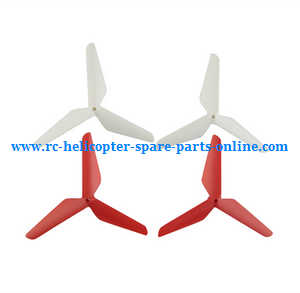 SYMA x5 x5a x5c x5c-1 RC Quadcopter spare parts upgrade Three leaf shape blades (Red-White)