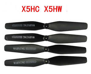 syma x5hc x5hw quadcopter spare parts main blades propellers (Black)