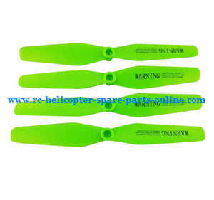 Syma x5uw-d quadcopter spare parts main blades propellers (Green)