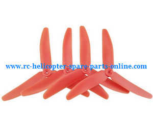 Syma x5uw-d quadcopter spare parts upgrade Three leaf shape blades (Red)