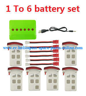 Syma x5uw-d quadcopter spare parts 1 to 6 charger box set + 6*battery set