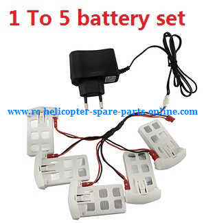 Syma x5uw-d quadcopter spare parts 1 to 5 charger set + 5*battery set