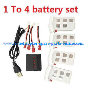 Syma x5uw-d quadcopter spare parts 1 to 4 charger box set + 4*battery set
