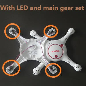 Syma x5uw-d quadcopter spare parts upper and lower cover with LED light, main gear, and motor deck set