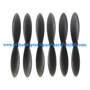MJX X-series X800 quadcopter spare parts main blades propellers (Black 3*clockwise +3*anti-clockwise)