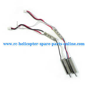 MJX X-series X800 quadcopter spare parts main motor with LED bar (1*Black-White wire + 1*Red-Blue wire)