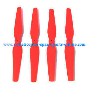 syma x8c x8w x8g x8hc x8hw x8hg quadcopter spare parts main blades propellers (red)