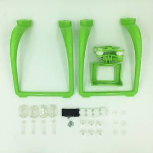 Syma X8PRO GPS RC quadcopter spare parts landing skids + sports camera plateform (Upgrade Green)