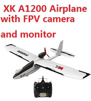 XK A1200 RC Airplanes with 5.8G camera and FPV monitor