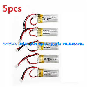 XK A600 RC Airplanes Helicopter spare parts battery 5pcs