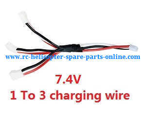 XK A600 RC Airplanes Helicopter spare parts 1 to 3 charger wire 7.4V