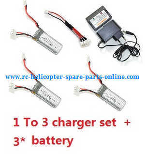 XK A700 RC Airplanes Helicopter spare parts 1 To 3 charger set + 3*battery (set)
