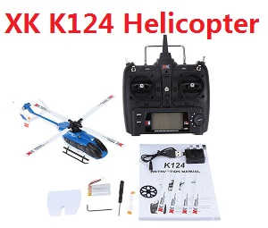 XK K124 RC helicopter with transmitter