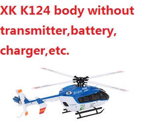 XK K124 helicopter body without transmitter,battery,charger,etc.
