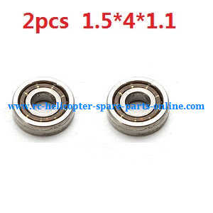XK K124 RC helicopter spare parts bearing 1.5*4*1.1mm 2pcs